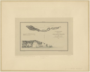 Anacapa Island, etching on paper. Courtesy of the Library of Congress.