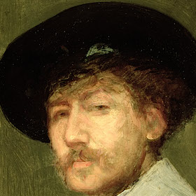 Arrangement in Grey: Portrait of the Painter, c.1872 (oil on canvas)