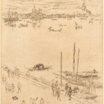 Whistler, James McNeill, Upright Venice, 1880, Etching,25.5 x 18cm, National Gallery of Art, Washington, Rosenwald Collection